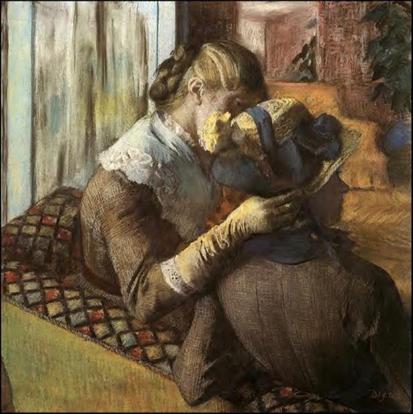 At the Milliner's, 1883 - Edgar Degas