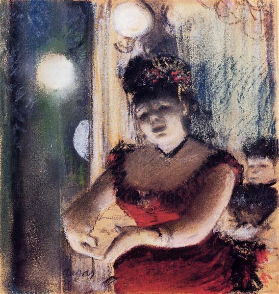 Cafe-Concert Singer, 1878 - Edgar Degas