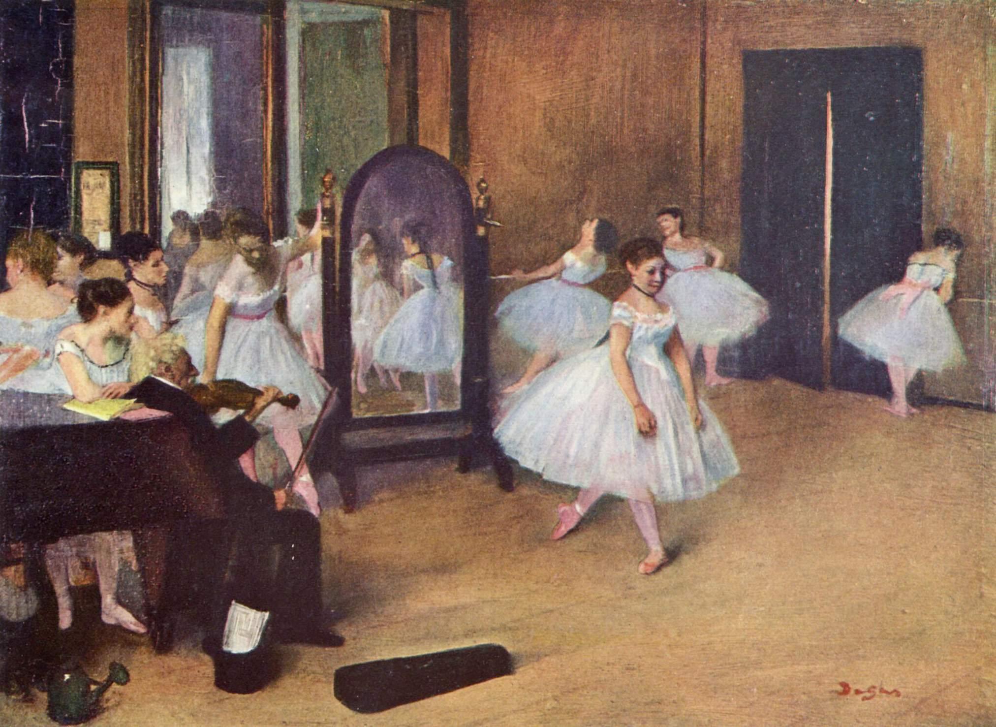 Dance Class, 1871 - Edgar Degas - WikiArt.org