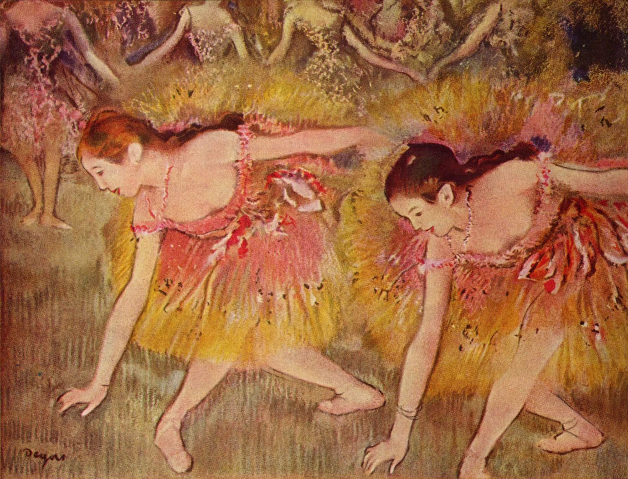 Dancers Bending Down, 1885 - Edgar Degas - WikiArt.org