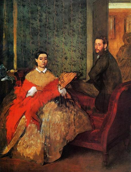 Edmondo and Therese Morbilli, 1865 - 1866 - Edgar Degas