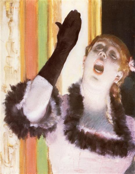 Singer with a glove, 1878 - Edgar Degas