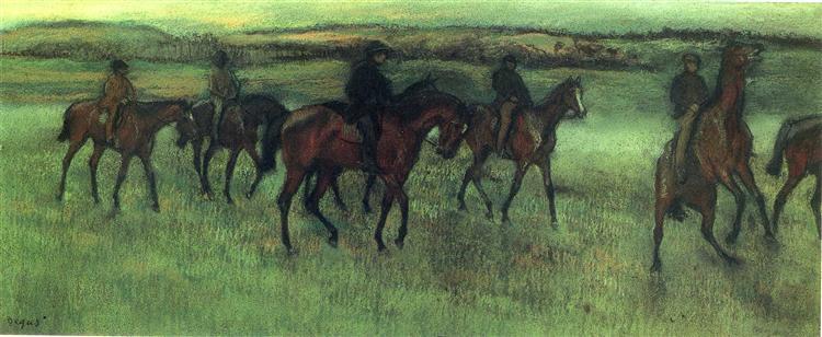 The Riders - Edgar Degas