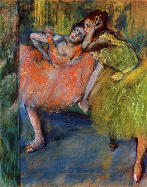 Two Dancers in the Foyer, c.1901 - Edgar Degas