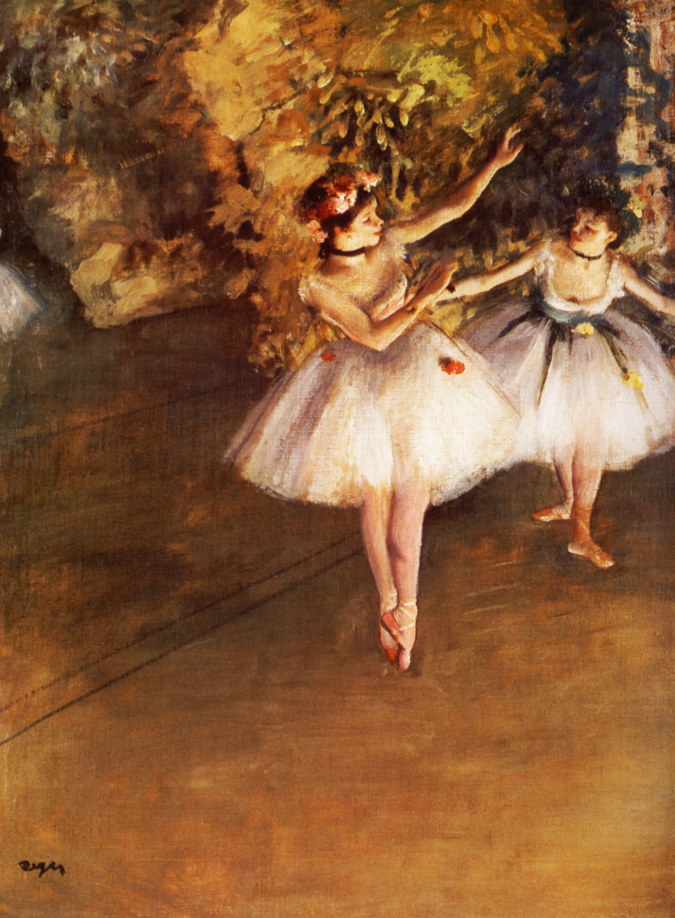 Two Dancers on a Stage Two Dancers on Stage Edgar