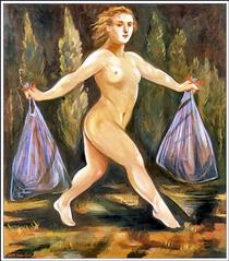 Taking out the garbage - Edith Vonnegut
