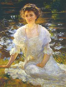 Portrait of Elanor Hyde Phillips - Edmund Charles Tarbell