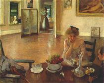 The Breakfast Room - Edmund Charles Tarbell