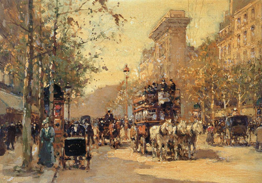 Porte Saint Martin Oil Painting