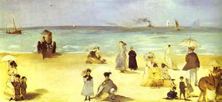 Beach at Boulogne, 1869 - Edouard Manet