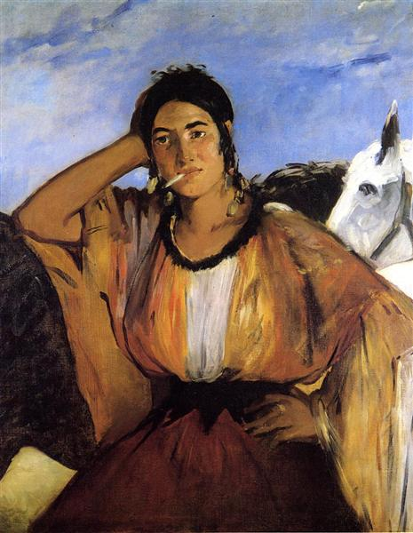 Gypsy with a Cigarette, c.1862 - Edouard Manet