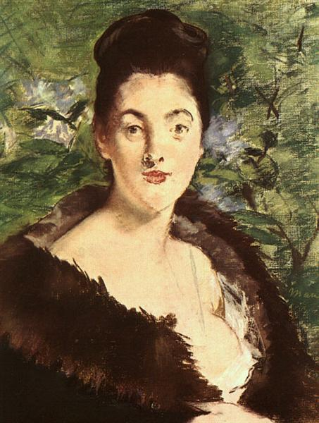 Lady in a fur, c.1880 - Edouard Manet