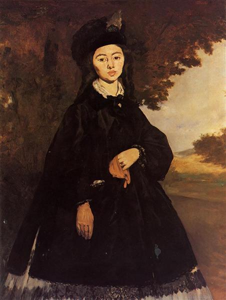 Madame Brunet, c.1865 - Edouard Manet
