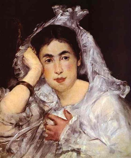 Marguerite de Conflans Wearing Hood, 1873 - Edouard Manet