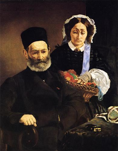 Portrait of Monsieur and Madame Auguste Manet - Edouard Manet