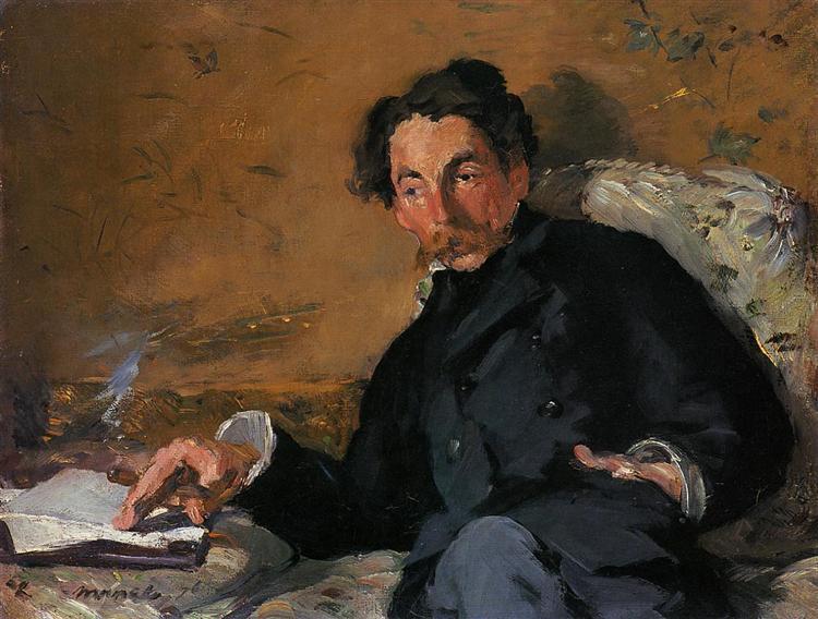 Stephane Mallarme, 1876 - Edouard Manet
