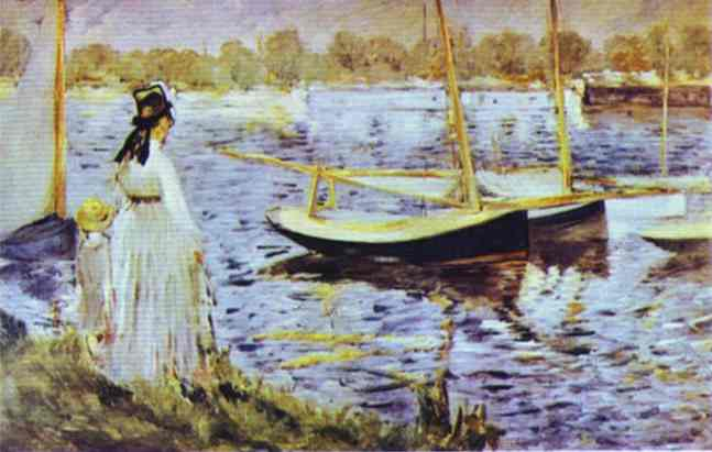 The Banks of the Seine at Argenteuil, 1874 - Edouard Manet