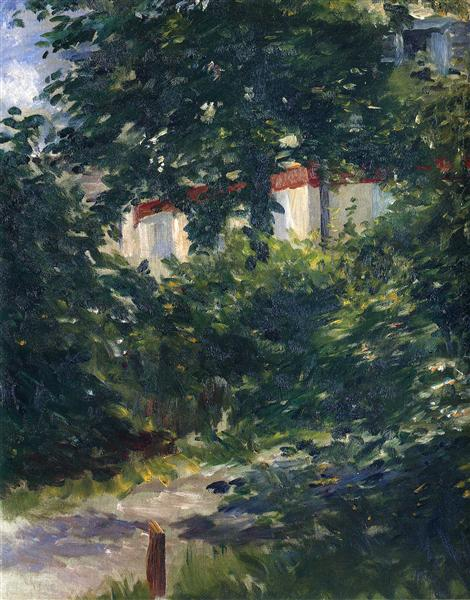 The garden around Manet's house, 1882 - Эдуард Мане