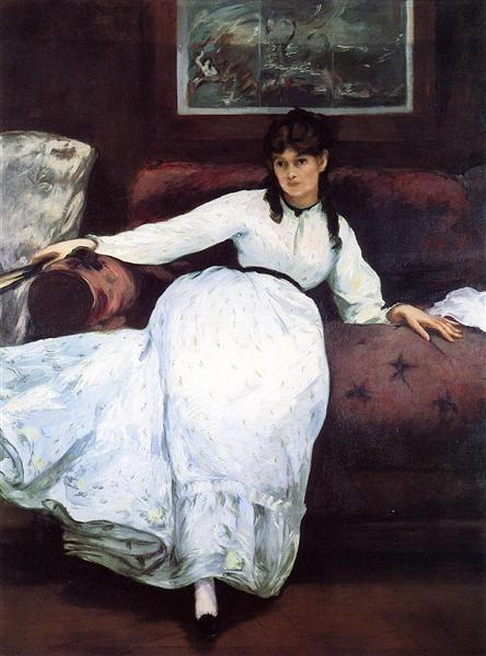 The Rest, portrait of Berthe Morisot, 1870 - Edouard Manet