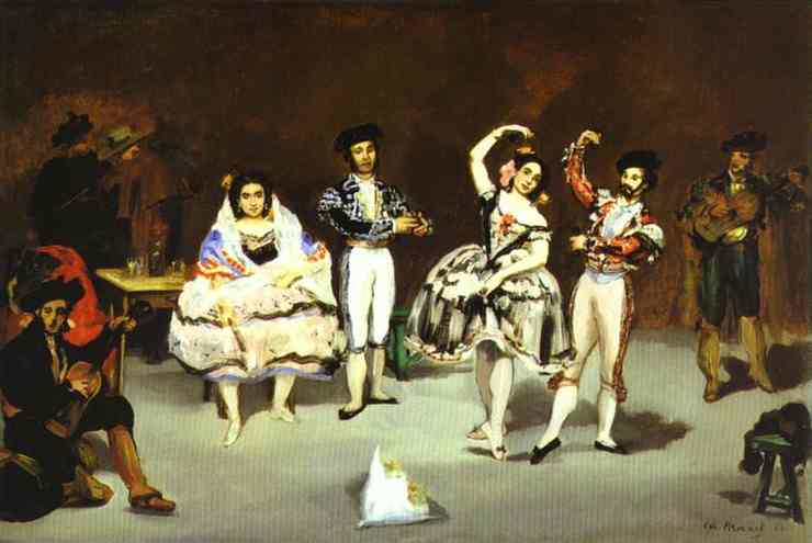 The spanish ballet - Manet Edouard