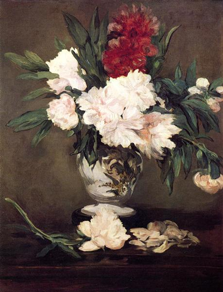 Vase of Peonies on a Small Pedestal, 1864 - Edouard Manet