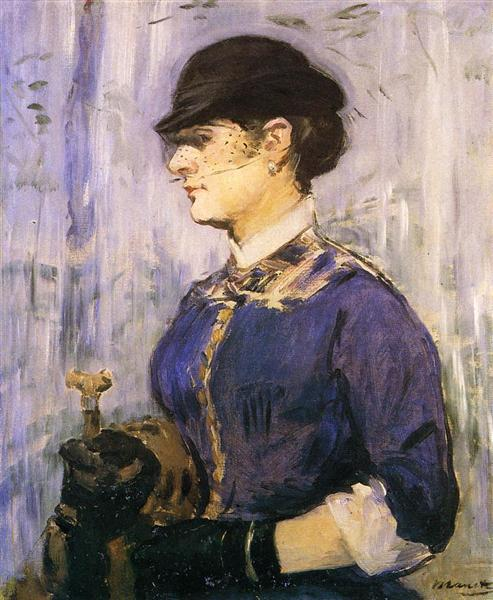 Young woman in a round hat, 1877 - Edouard Manet