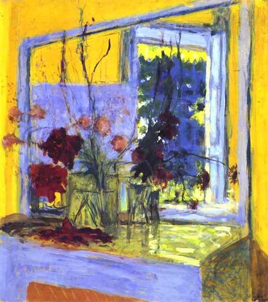 Flowers onafireplacein Clayes, 1932 - 1935 - Edouard Vuillard