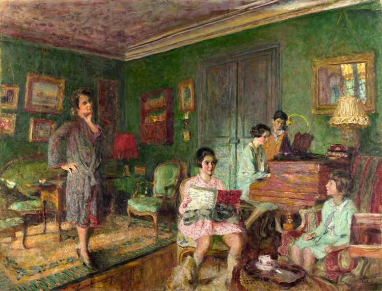 Madame André Wormser and her Children - Edouard Vuillard