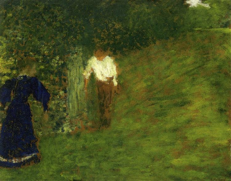 Man and Woman beneath a Tree, 1893 - Edouard Vuillard