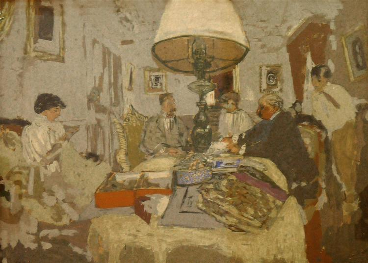 The friends around the table, St. Jacut - Edouard Vuillard