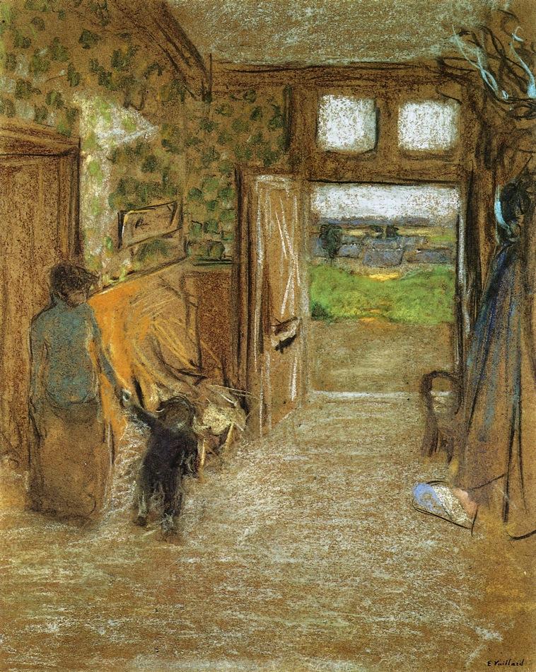 Édouard Vuillard The-vestibule-at-saint-jacut-de-la-mer