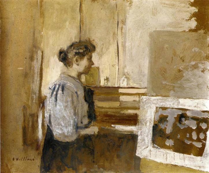 Woman in the Studio, 1915 - Edouard Vuillard