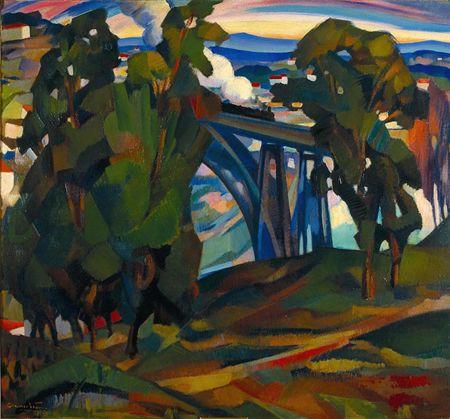 A ponte de D. Maria, 1925 - Эдуардо Виана