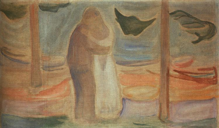 Couple on the Shore (from the Reinhardt Frieze), 1906 - 1907 - Edvard Munch