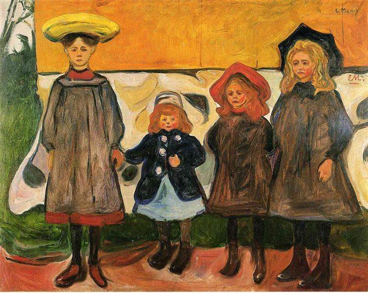 Four girls in Arsgardstrand, 1903 - Edvard Munch