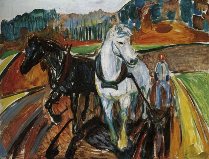 Horse Team, 1919 - Edvard Munch