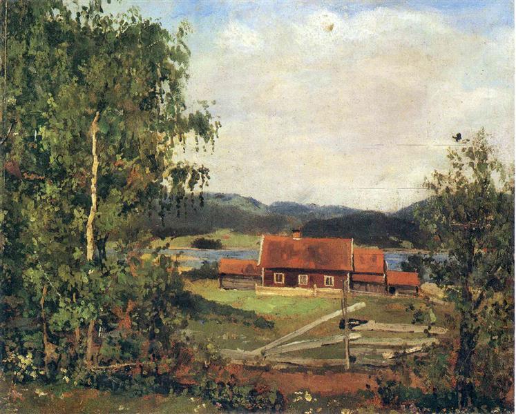 Landscape. Maridalen by Oslo, 1881 - Edvard Munch