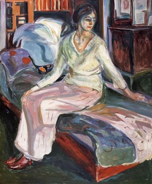 Model on the Couch, 1924 - 1928 - Edvard Munch