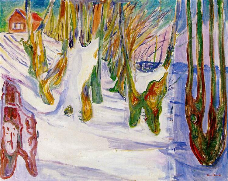 Old Trees, 1923 - 1925 - Edvard Munch
