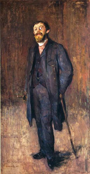 Portrait of the Painter Jensen Hjell, 1885 - Edvard Munch