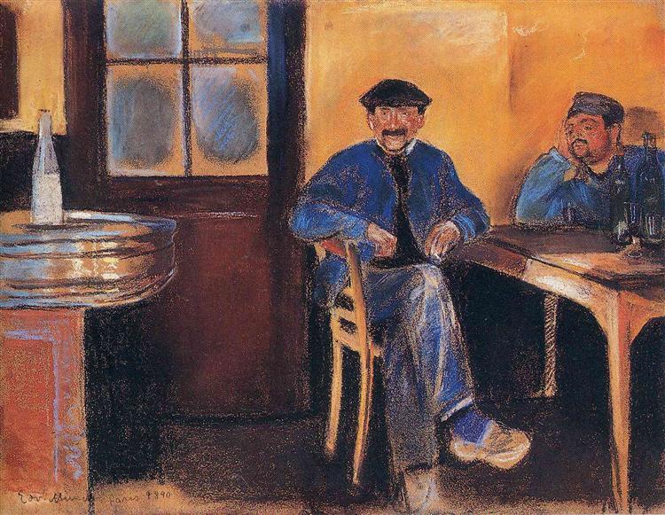 Tavern in St. Cloud, 1890 - Edvard Munch