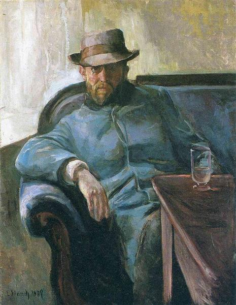 Writer Hans Jaeger, 1889 - Edvard Munch