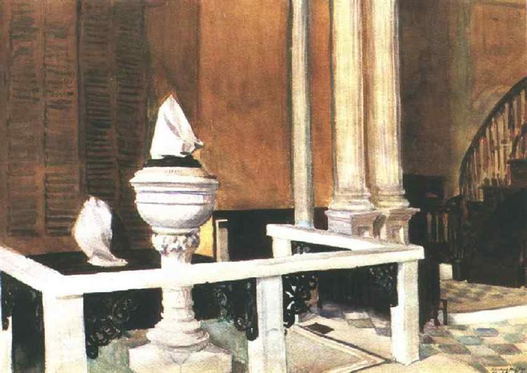 Baptistry of St. John's, 1929 - Edward Hopper