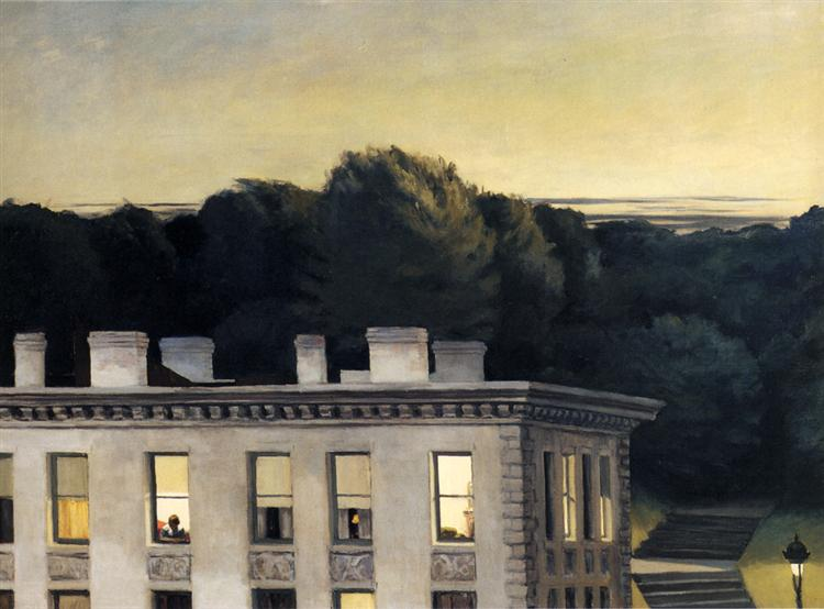 House At Dusk, 1935 - Edward Hopper