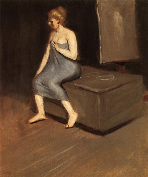 Model sitting, c.1902 - Edward Hopper