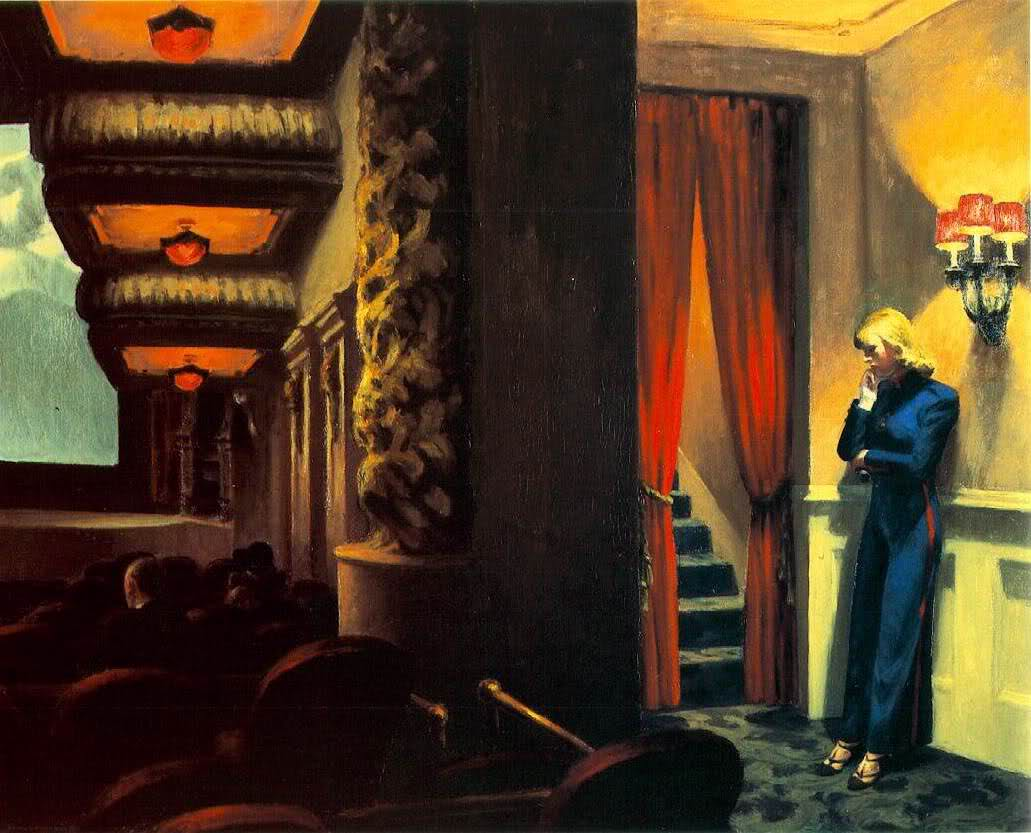 Image result for New York Movie by Edward Hopper
