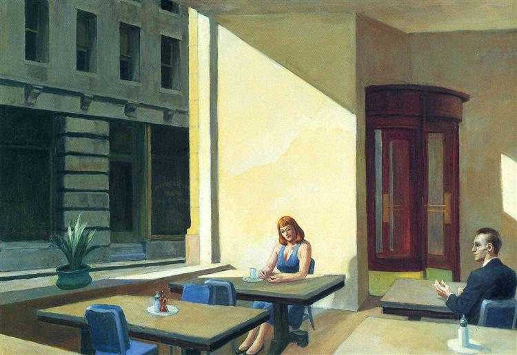 Sunlights in Cafeteria, 1958 - Edward Hopper