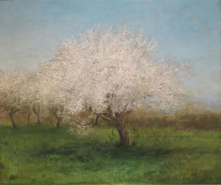 Apple Trees in a Meadow - Edward Mitchell Bannister