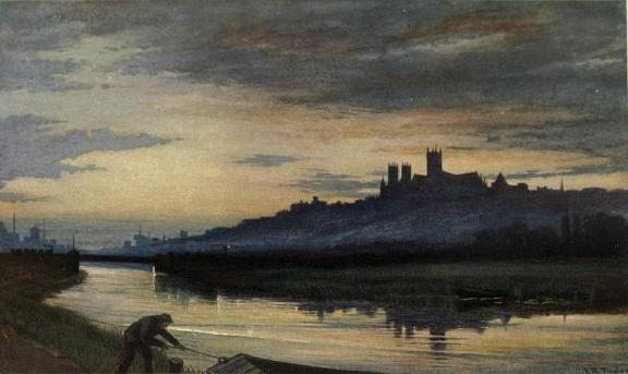 Lincoln Cathedral, Evening, 1911 - Edward R. Taylor
