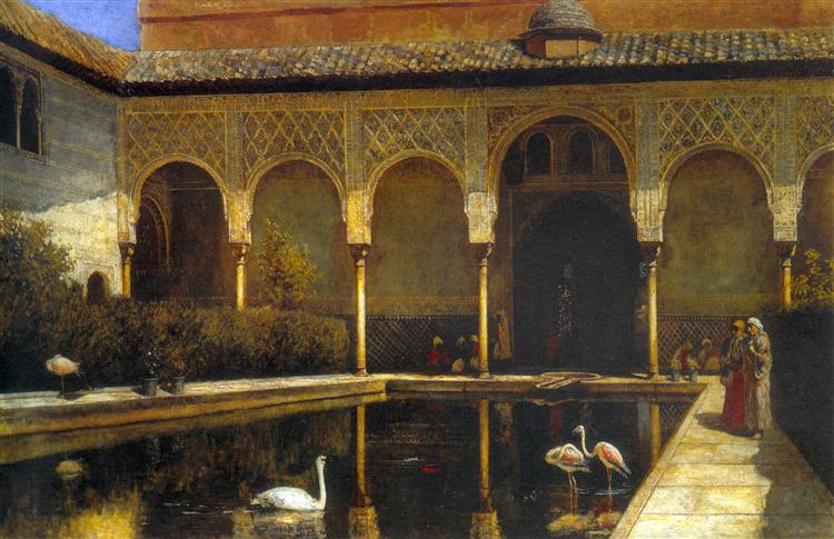A Court in the Alhambra, 1876 - Edwin Lord Weeks